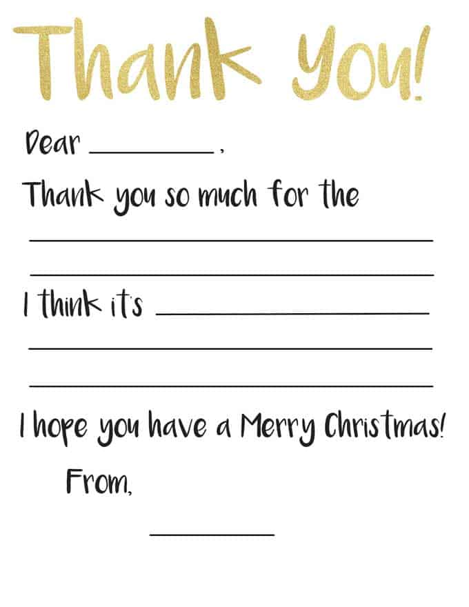 photograph about Thank You Notes Printable identify Youngsters Thank On your own Card Printable The Happier Homemaker