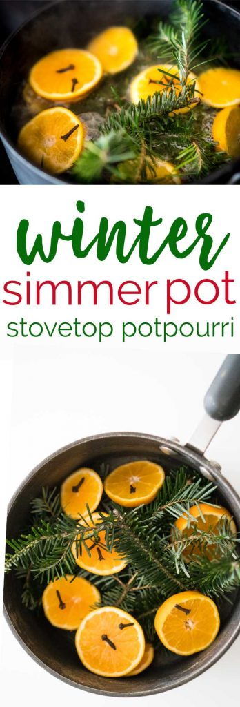 Winter Simmering Pot Recipe, this stovetop potpourri is an easy way to scent your home without harmful chemicals!