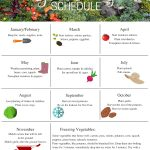 Gardening schedule printable with tasks by month