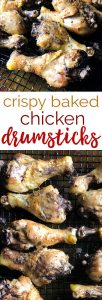 Perfectly seasoned chicken drumsticks that bake up crispy on the outside and tender and juicy inside. This is my family's favorite weeknight recipe!
