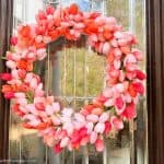 diy spring tulip wreath tutorial in pinks and coral