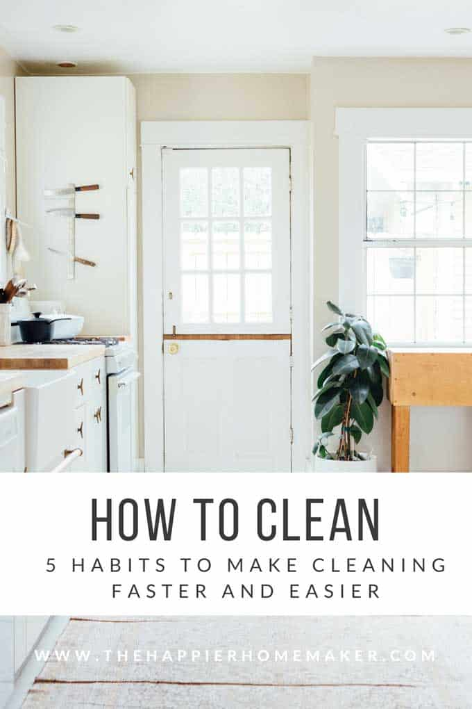 How to Clean: 5 Fast and Easy Cleaning Tips #cleaning #organization