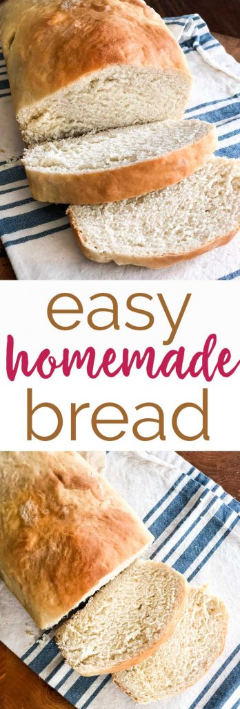 This easy homemade white bread recipe is simple enough for beginner bakers and tastes delicious!