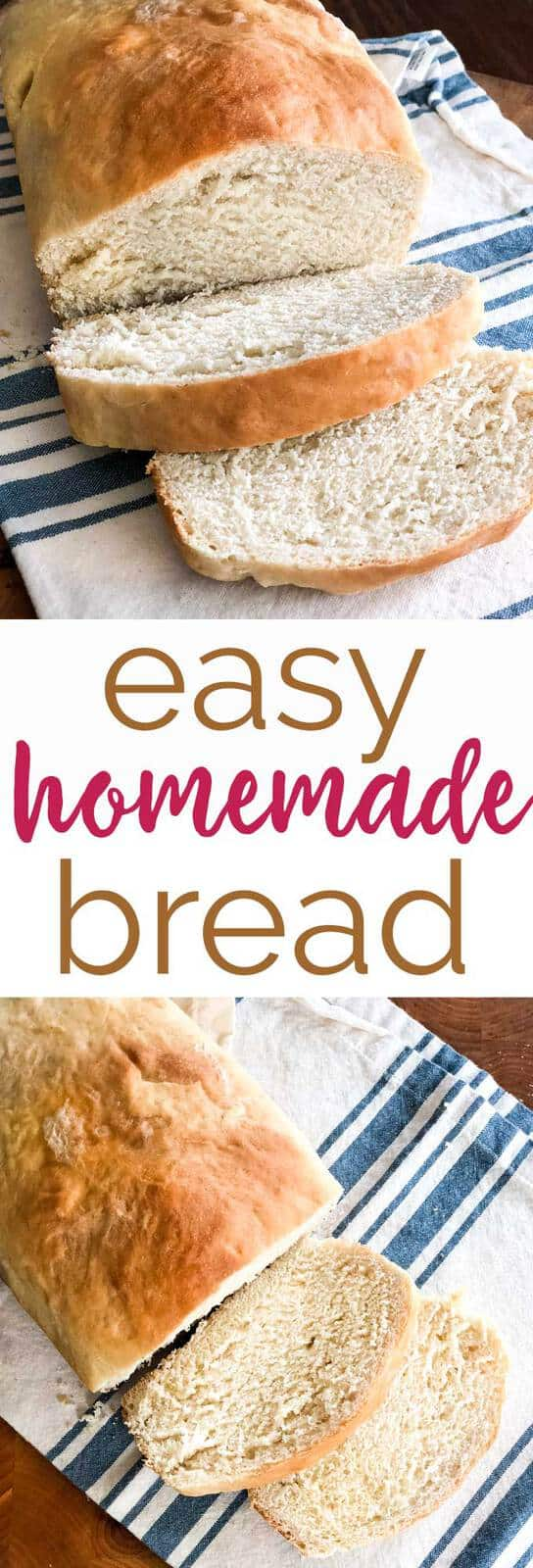 This easy homemade white bread recipe is simple enough for beginner bakers and tastes delicious! #recipe