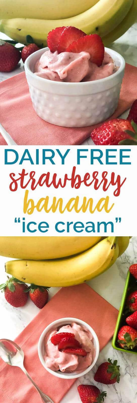 Delicious Dairy Free Sugar Free Strawberry Banana
