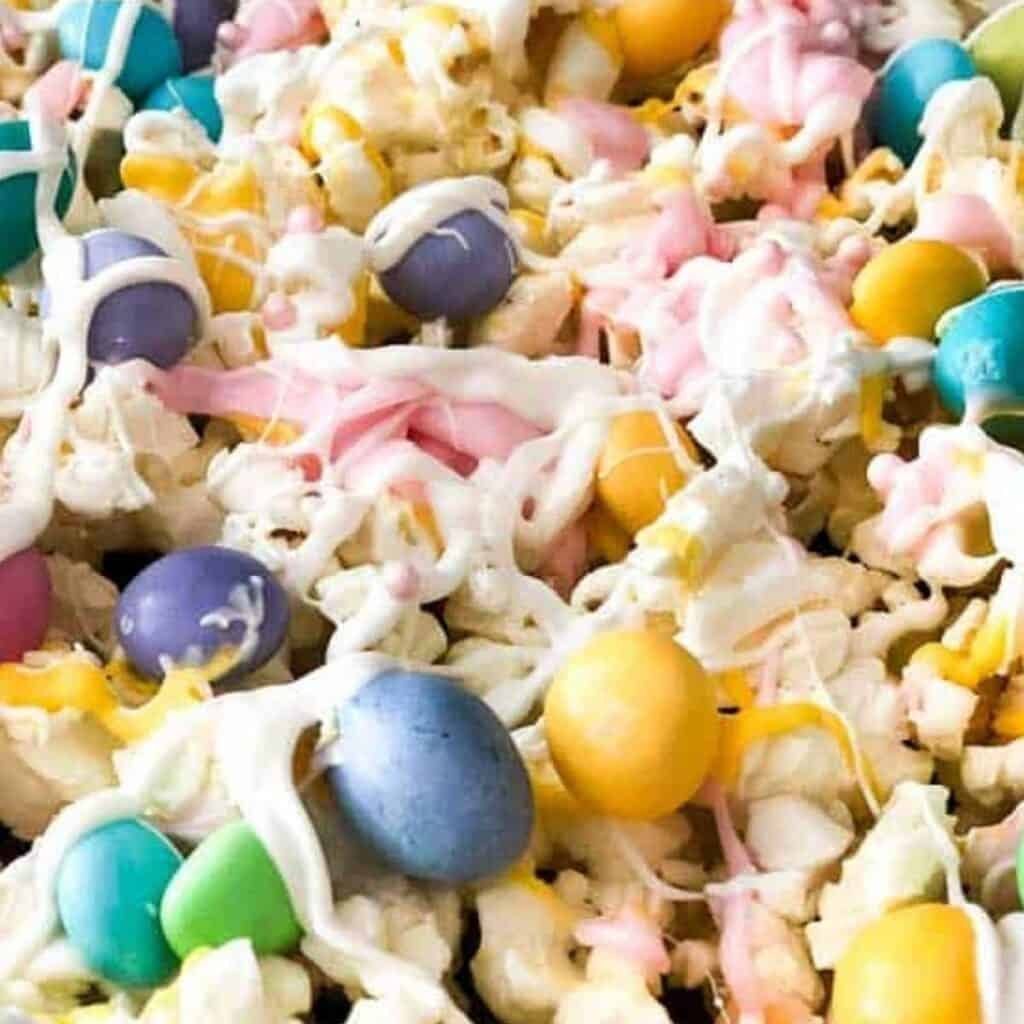easter popcorn close up