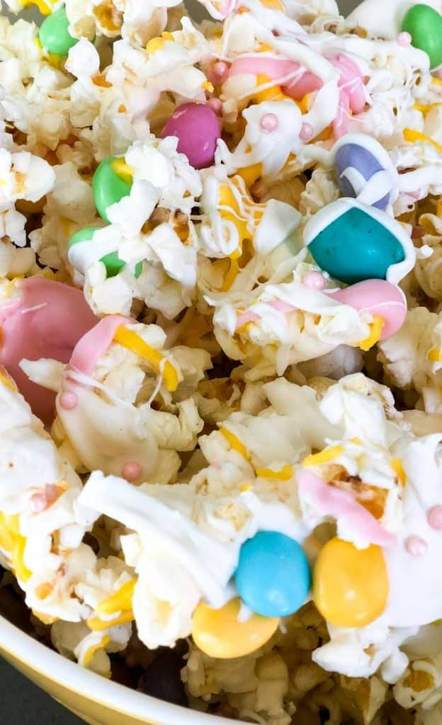 Easter gourmet chocolate popcorn