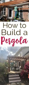 how to build a pergola tutorial