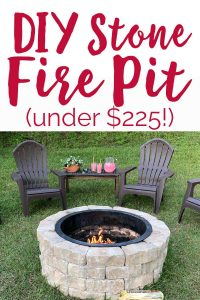 Step by step DIY Stone Fire Pit tutorial for under $225