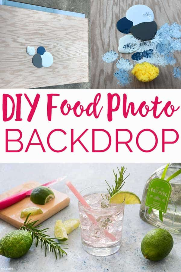 Create your own beautiful DIY food photography backdrop with just some spare wood and paint samples by following this easy step by step tutorial. #foodphotography #blogging #foodblogger #DIY #photography