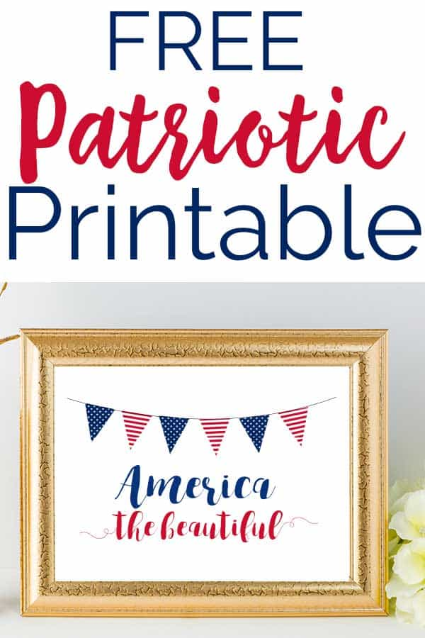 free patriotic printable art red white and blue