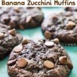 chocolate banana zucchini muffin