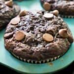 chocolate zucchini banana muffin