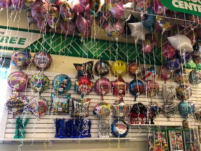 balloons at dollar tree