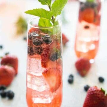 flute of berry sangria