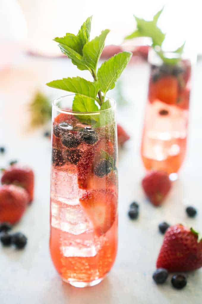 summer berry sangria blueberry strawberry rose wine