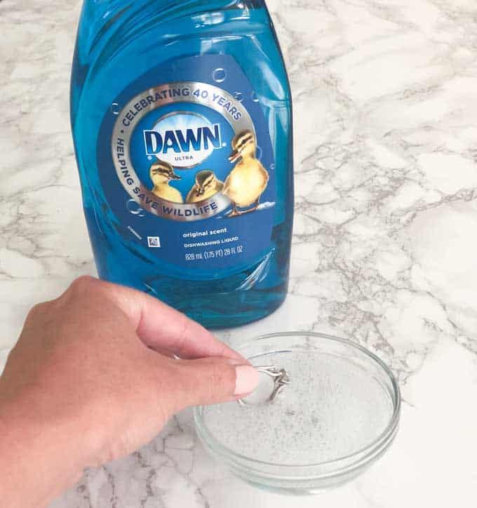 dawn detergent clean jewelry