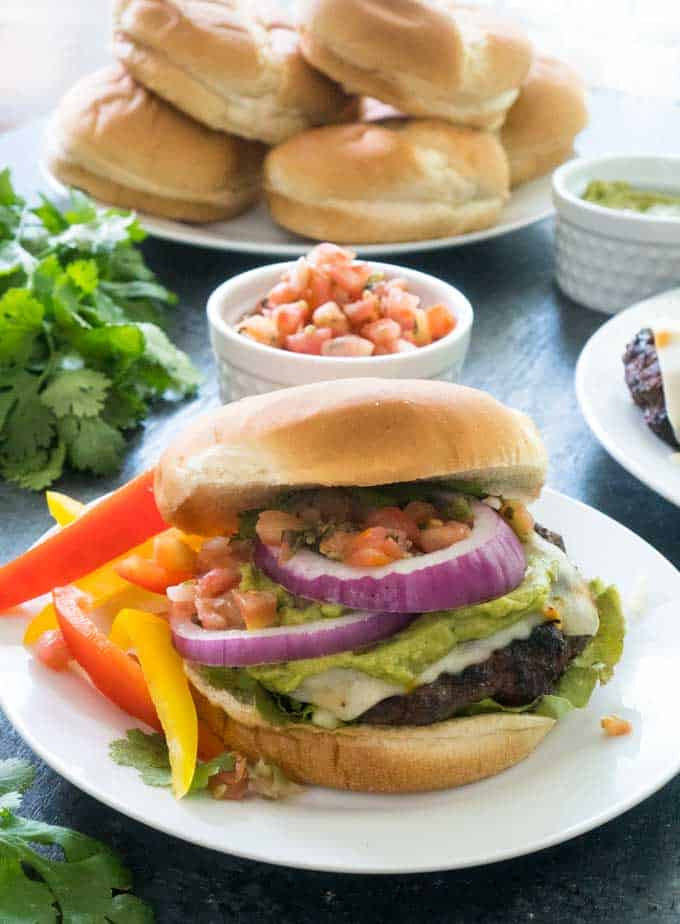 Make entertaining easy this summer with a Burger Bar featuring Southwest Cheeseburgers