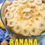 banana pudding in trifle dish