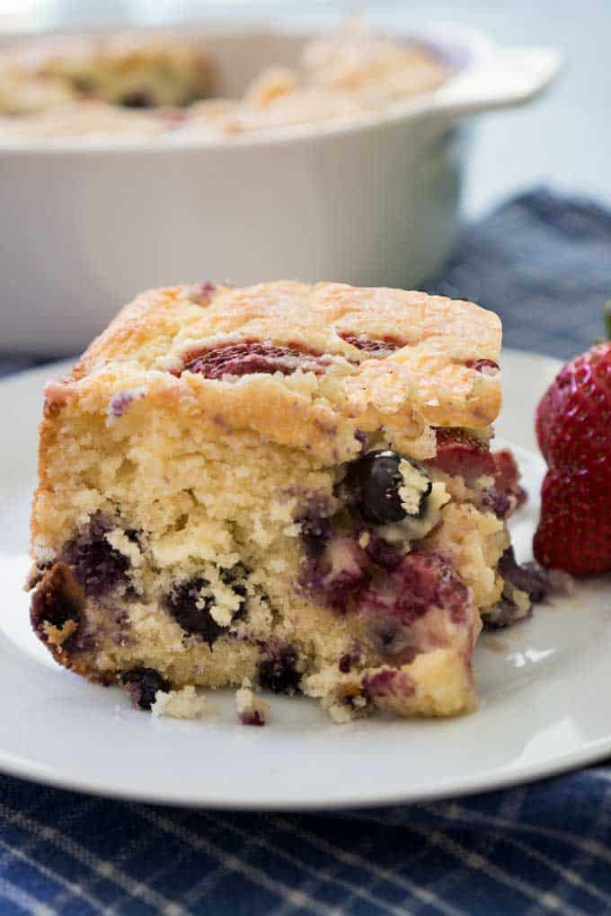 buttermilk berry cake recipe strawberry blueberry