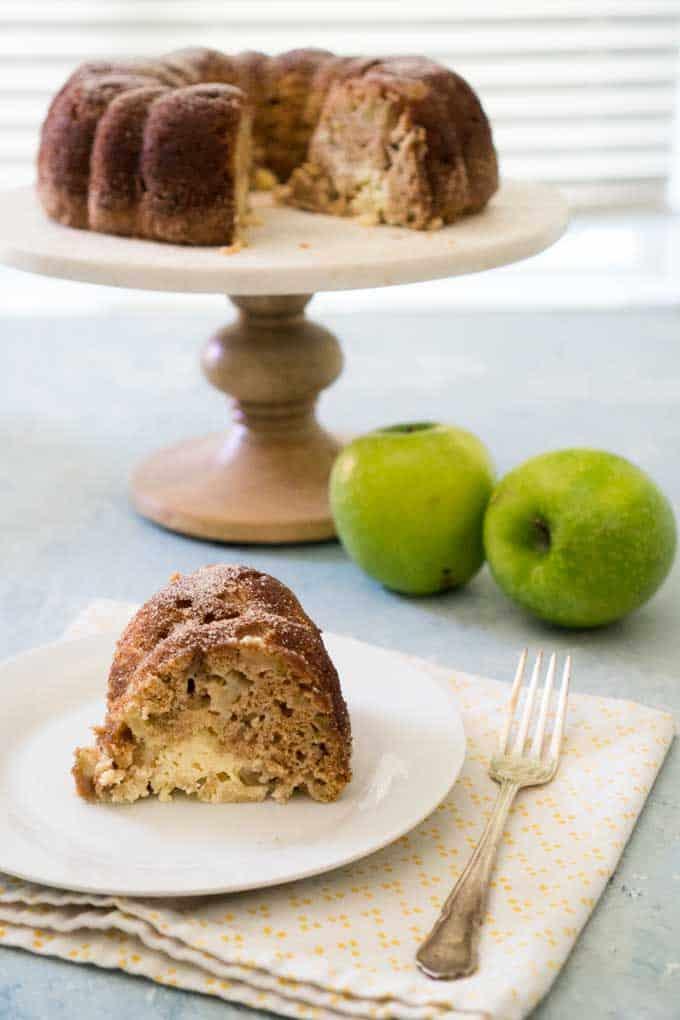 Cream Cheese Cinnamon Apple Cake
