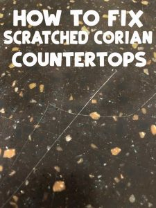 how to fix scratched corian countertops