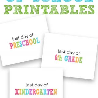 last day of school printable sign free