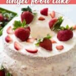 strawberry filled angel food cake
