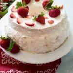 strawberry stuffed angel food cake