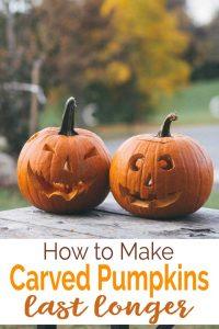 how to make carved pumpkins last longer