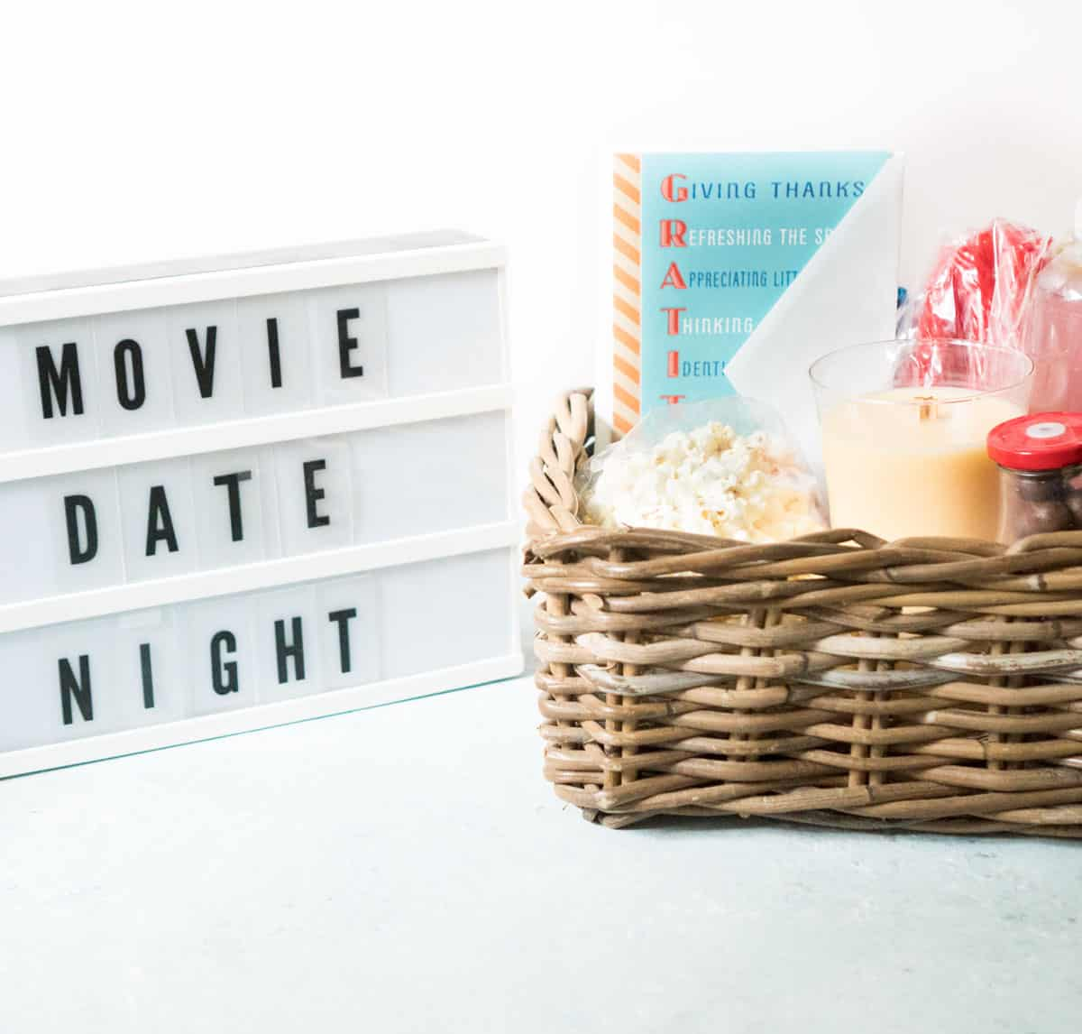 Celebrate the ones you love with a movie date night gift basket!