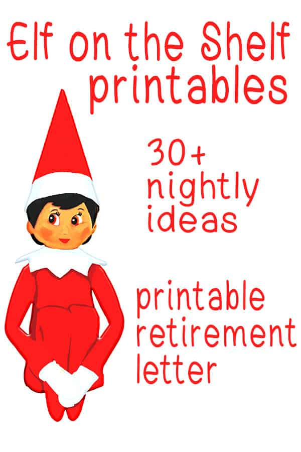 photo relating to Elf on the Shelf Letter Printable named Elf upon the Shelf Printables Nightly Options and Elf