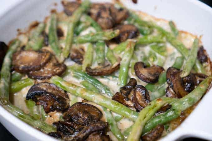 Best Green Bean Casserole from scratch before cooking