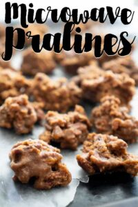 microwave pralines on parchment paper