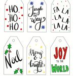 free printable christmas gift tags hand lettered
