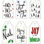 free printable christmas gift tags hand lettered