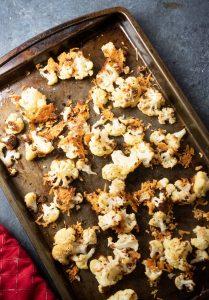 parmesan roasted cauliflower