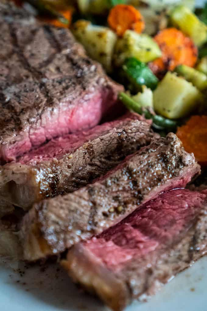 how to cook a steak house steak roasted vegetables