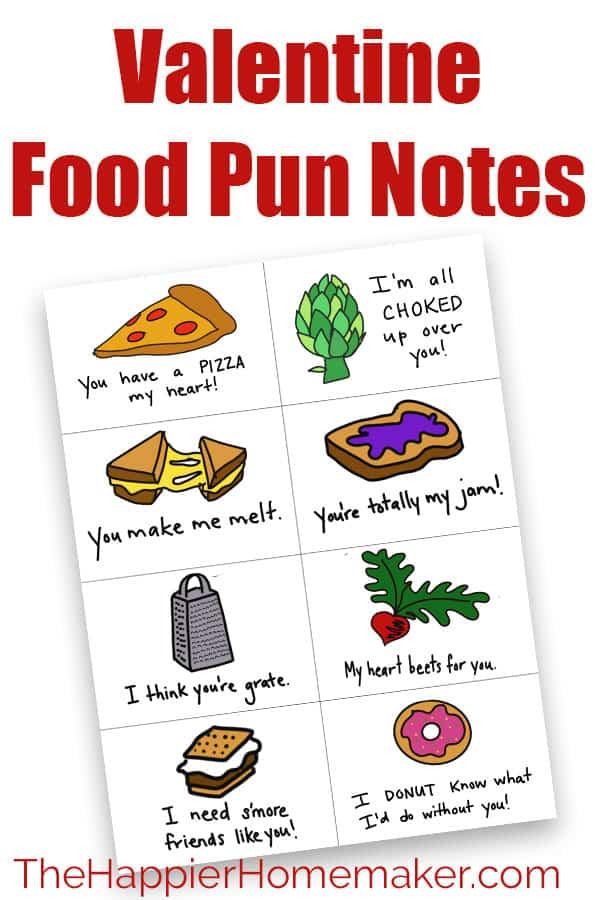 valentine food pun pin