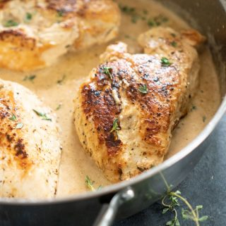 chicken breast with creamy herb sauce