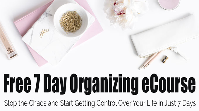 organizing ecourse button with feminine desktop