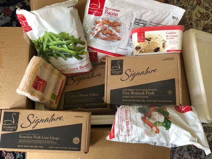 schwan's food in delivery cooler