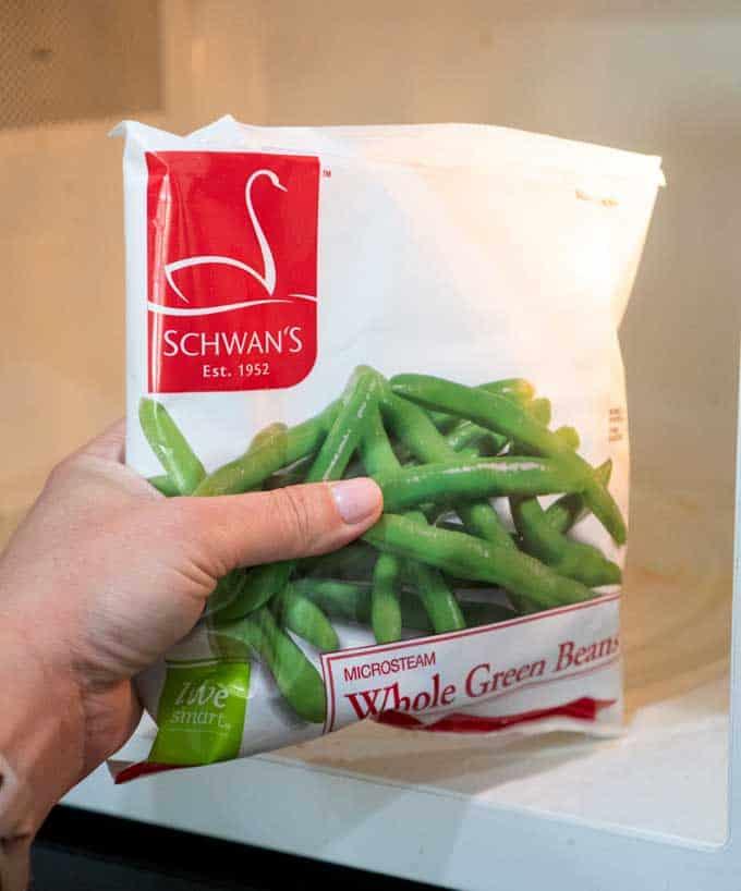 schwan's green beans in bag