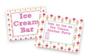 ice cream sundae party printables