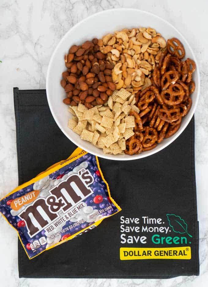 m&m snack mix