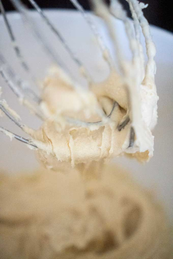 thick bread batter on stand mixer whisk