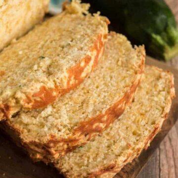 sliced cheddar zucchini bread