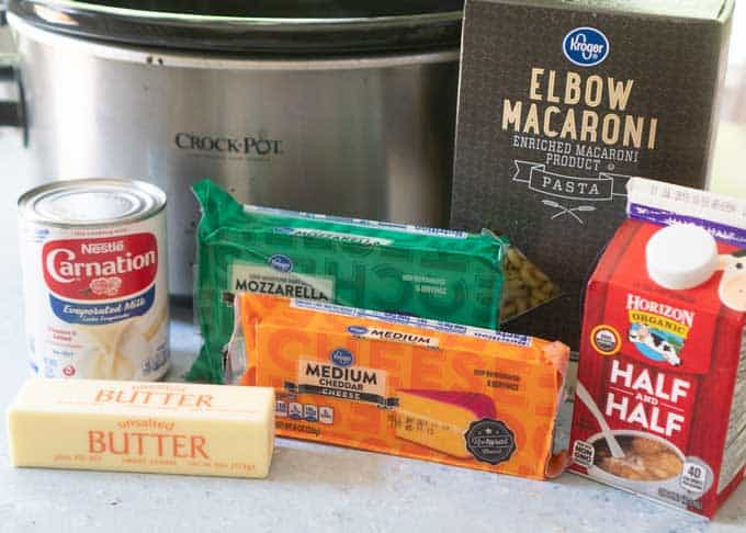 ingredients slow cooker mac and cheese real cheese