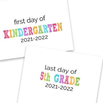 collage of first day of school signs with grades