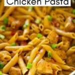 cajun pasta with chicken and penne in pan